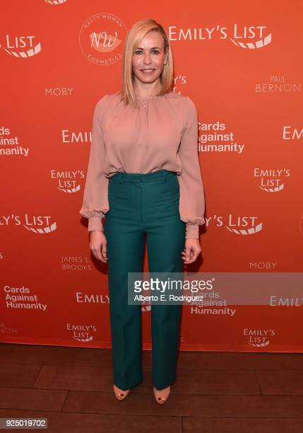Chelsea Handler attends EMILY's List PreOscars Brunch and Panel on February 27 2018 in Los Angeles California