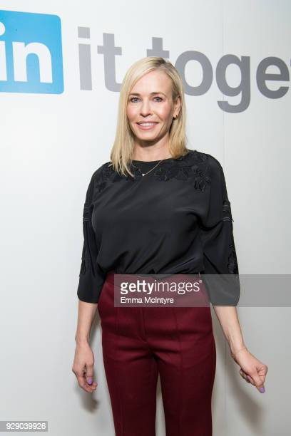 Chelsea Handler attends 'LinkedIn Hosts a panel discussion with Issa Rae and Chelsea Handler' at The Art of Elysium Center on March 7 2018 in Los...