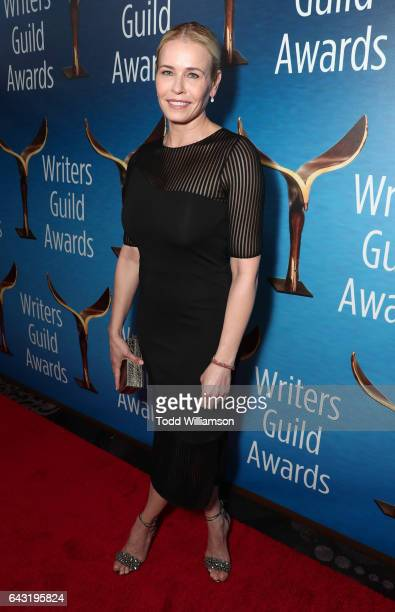 Chelsea Handler attends the 2017 Writers Guild Awards LA Ceremony at The Beverly Hilton Hotel on February 19 2017 in Beverly Hills California