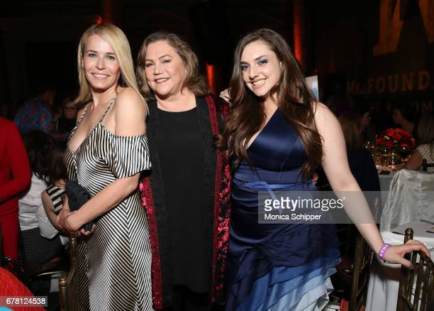 Chelsea Handler Kathleen Turner and Rachel Ann Weiss attend the Ms Foundation for Women 2017 Gloria Awards Gala After Party at Capitale on May 3 2017...