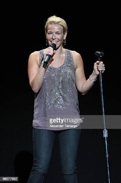 Chelsea Handler performs at Fillmore Miami Beach on March 26 2010 in Miami Beach Florida