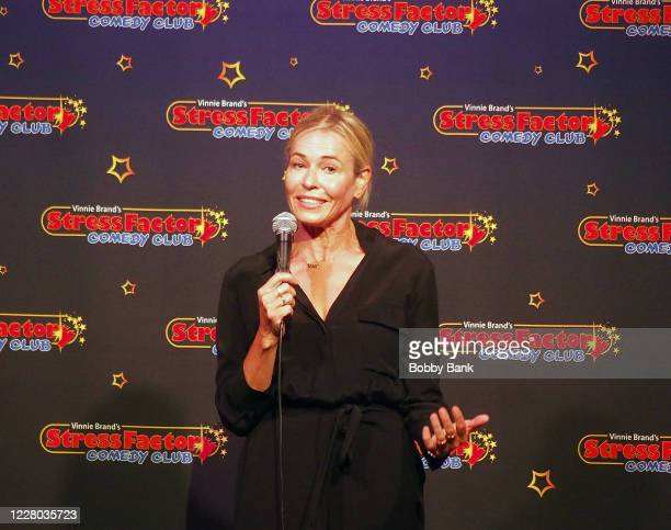 Chelsea Handler performs at The Stress Factory Comedy Club on August 13, 2020 in New Brunswick, New Jersey.