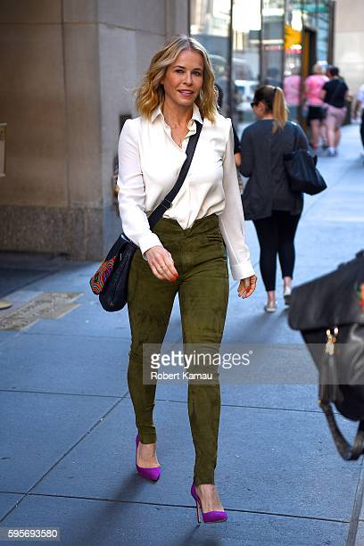 Chelsea Handler seen out in Manhattan on August 25 2016 in New York City