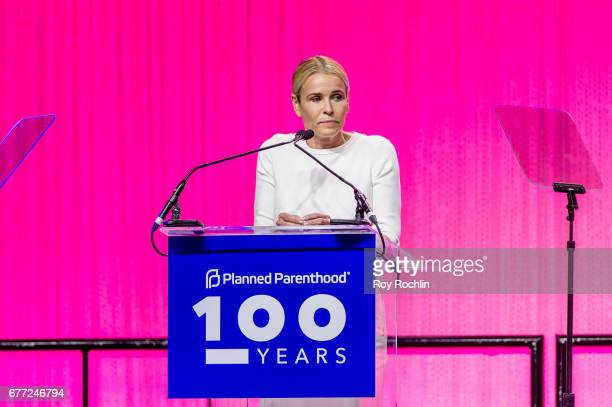 Chelsea Handler speaks during the Planned Parenthood 100th Anniversary Gala at Pier 36 on May 2 2017 in New York City