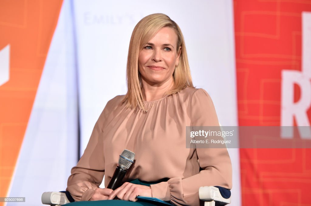 Chelsea Handler speaks onstage at EMILY's List Pre-Oscars Brunch and Panel on February 27, 2018 in Los Angeles, California.