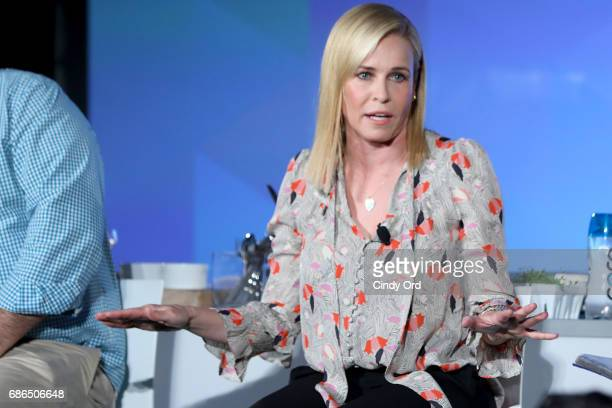 Chelsea Handler speaks onstage at the Chelsea Handler and Chef Jose Andres Heat Up The Kitchen panel during the 2017 Vulture Festival at Milk Studios...