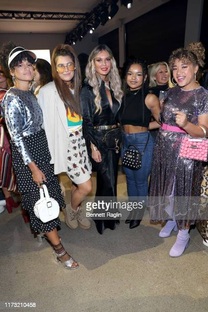 Chelsea Henriquez Suzy Shattuck Jasmine Dustin Faith Frazier and Courtney Quinn attend the Nicole Miller front row during New York Fashion Week The...