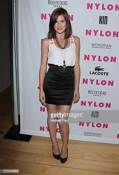 Chelsea Hobbs arrives to Nylon Magazine's June/July music issue launch party held at SkyBar at the Mondrian Los Angeles on June 22 2010 in West...