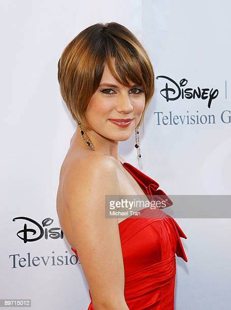 Chelsea Hobbs arrives to the 2009 DisneyABC Television Group Summer TCA Tour held at The Langham Resort on August 8 2009 in Pasadena California