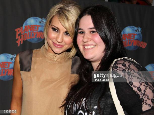"""Chelsea Kane promotes """"Dancing with the Stars"""" and poses with fans as she visits Planet Hollywood Times Square on May 25, 2011 in New York City."""