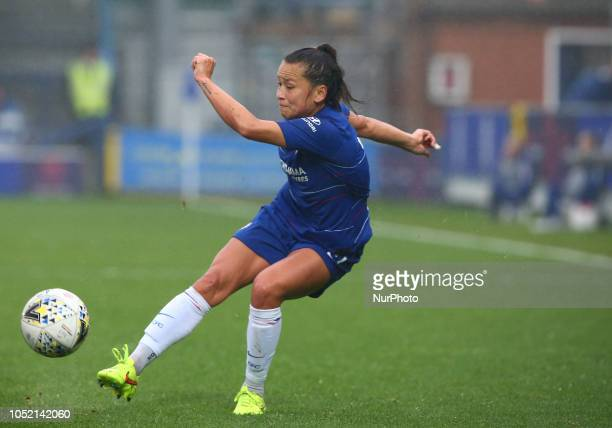 Chelsea Ladies Ali Riley making her Debut during The FA Women's Super League match between Chelsea FC Women and Arsenal at Kingsmeadow Stadium...