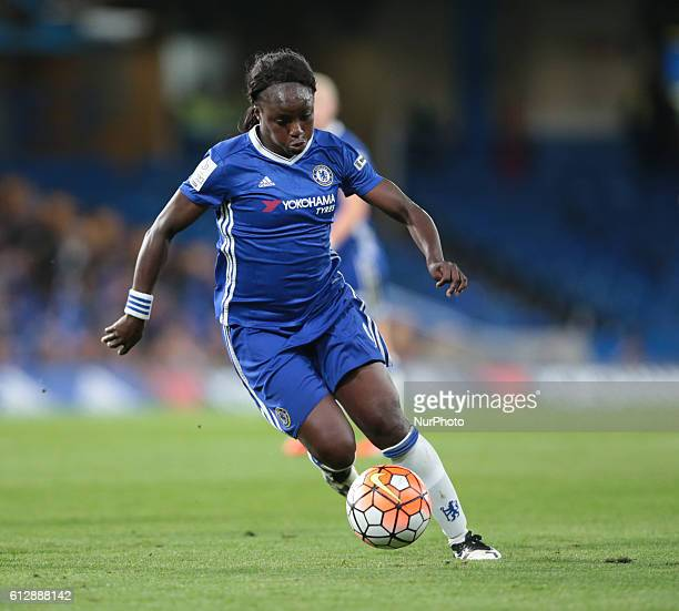 Chelsea Ladies Eniola Aluko during UEFA Women Champion League Round of 32 match between Chelsea Ladies and VFL Wolfsburg Ladies at Stamford Bridge...