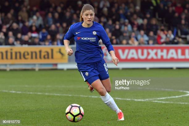 Chelsea Ladies Maren Mjelde during Continental Tyres Cup semifinals match between Chelsea Ladies against Manchester City Women at Kingsmeadow Stadium...