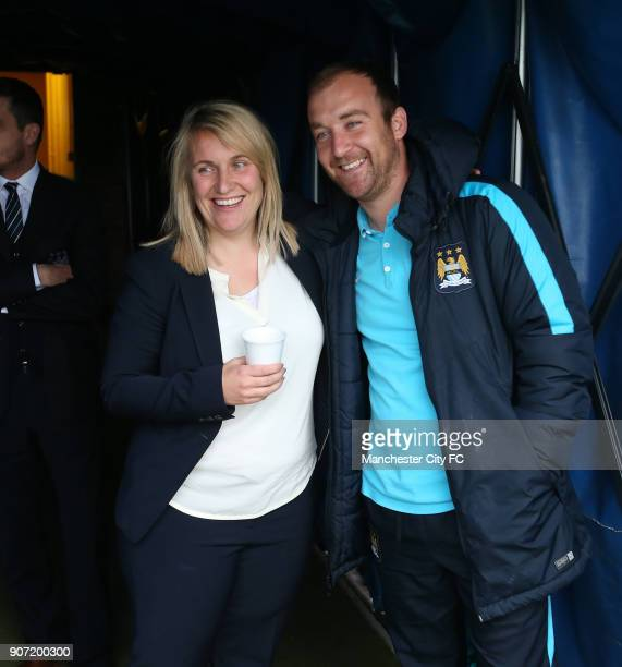 Chelsea Ladies v Manchester City Women FA Womens Super League Wheatsheaf Park Chelsea manager Emma Hayes poses for a photo with Manchester City...