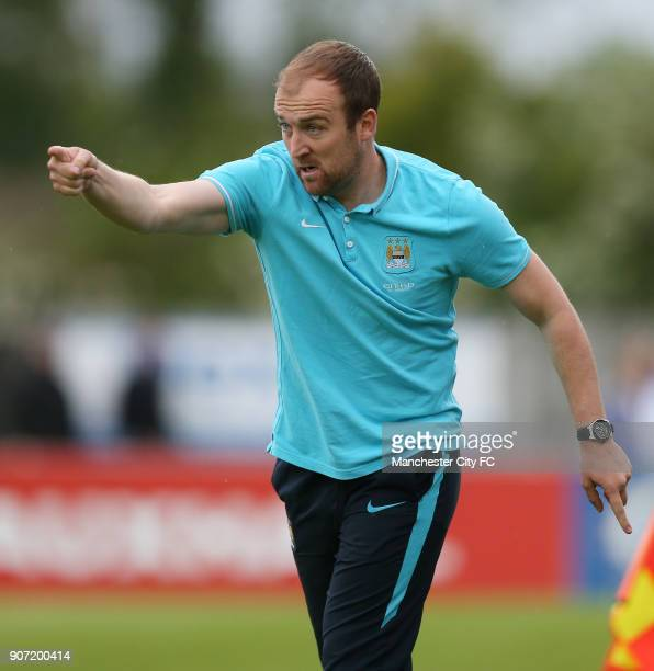 Chelsea Ladies v Manchester City Women FA Womens Super League Wheatsheaf Park Manchester City manager Nick Cushing
