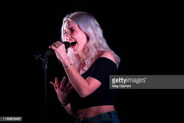 Chelsea Lee of SHAED performs at The Moroccan Lounge on March 13 2019 in Los Angeles California