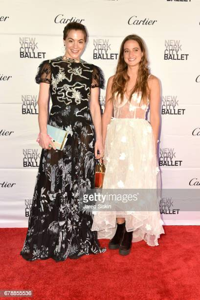 Chelsea Leyland and guest attends the New York City Ballet 2017 Spring Gala at David H Koch Theater Lincoln Center on May 4 2017 in New York City