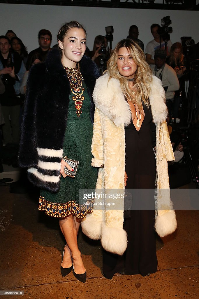 Chelsea Leyland (L) and Jenne Lombardo attend The Blonds fashion show during MADE Fashion Week Fall 2015 at Milk Studios on February 18, 2015 in New York City.