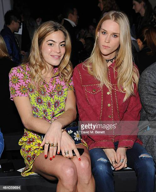 Chelsea Leyland and Mary Charteris attend the House of Holland show during London Fashion Week Fall/Winter 2015/16 at University of Westminster on...