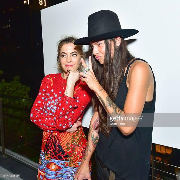 Chelsea Leyland and Tasya van Ree attend Interview Simon Tasya van Ree Celebrate Miami Curated @ArtBasel at Kaskades South Beach on December 1 2016...