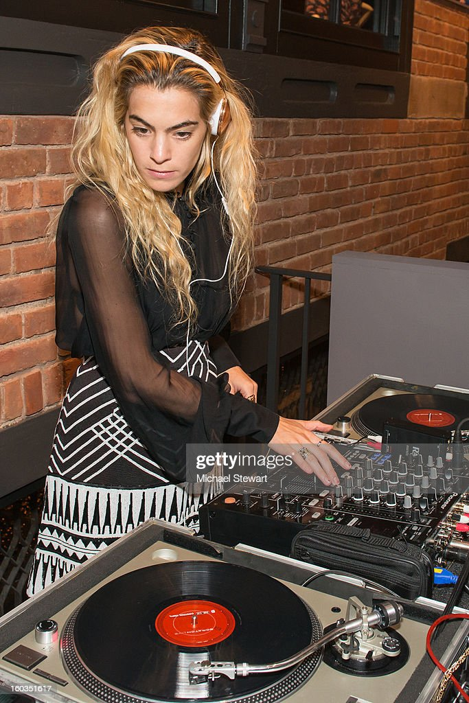 DJ Chelsea Leyland attends ETRO Spring 2013 Collection Celebration Hosted By Erik Madigan Heck at ETRO Soho Boutique on January 29, 2013 in New York City.