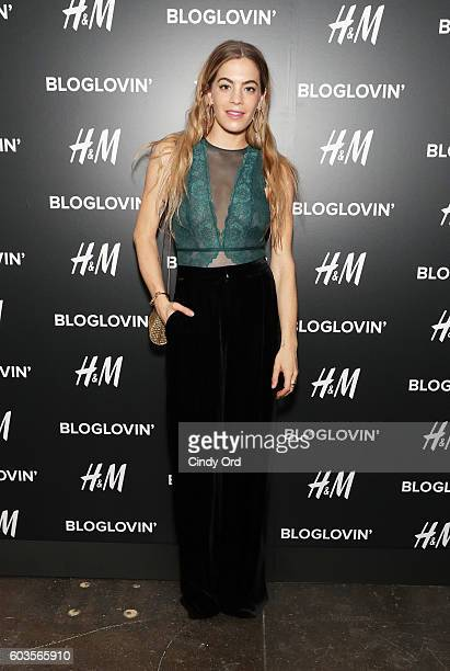 Chelsea Leyland attends the Blog Lovin' Awards at Industria Superstudio on September 12 2016 in New York City