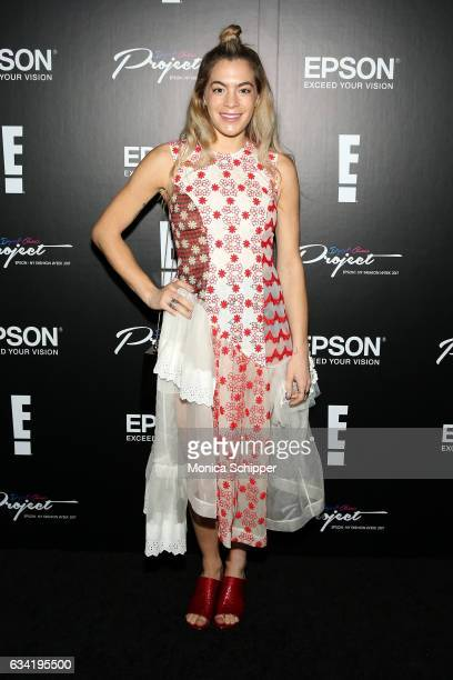 Chelsea Leyland attends the Epson Digital Couture Presentation February 2017 during New York Fashion Week at IAC Building on February 7 2017 in New...