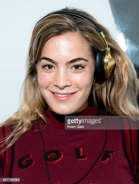 Chelsea Leyland attends the GQ x LaCoste Sport PopUp on October 23 2014 in New York City