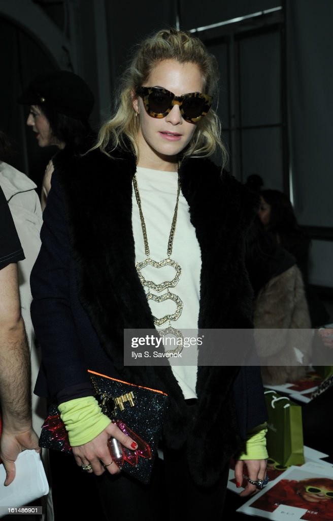 DJ Chelsea Leyland attends the Karen Walker fall 2013 fashion show during Mercedes-Benz FAshion Week at Pier 59 on February 11, 2013 in New York City.