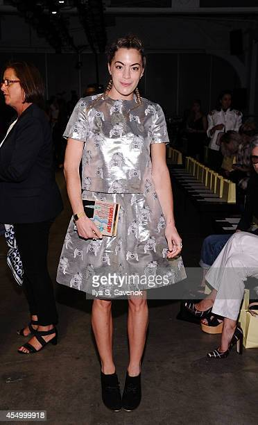 Chelsea Leyland attends the Karen Walker fashion show during MercedesBenz Fashion Week Spring 2015 at Pier 59 on September 8 2014 in New York City