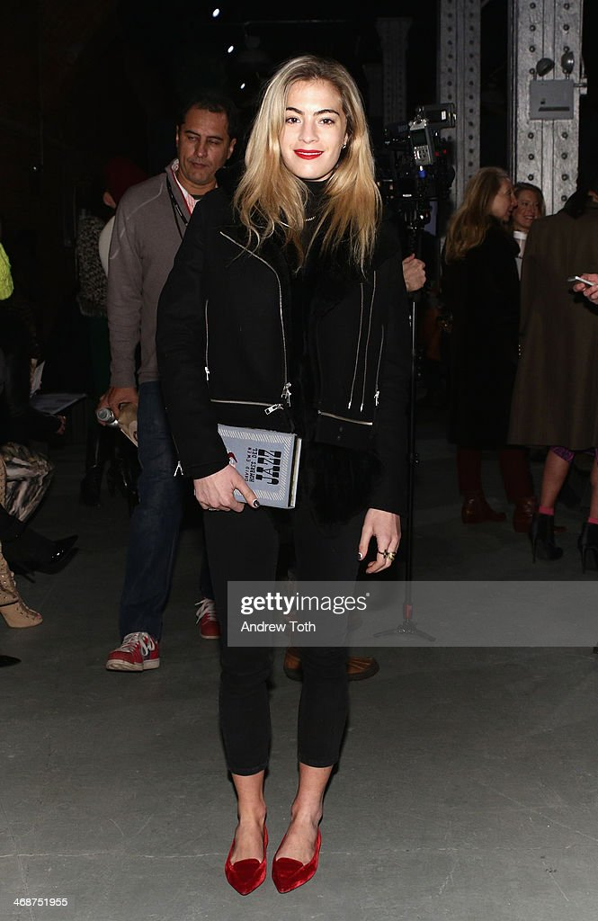 Chelsea Leyland attends the Wes Gordon fashion show during Mercedes-Benz Fashion Week Fall 2014 on February 11, 2014 in New York City.