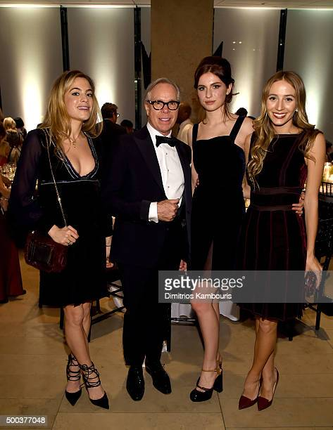 Chelsea Leyland designer Tommy Hilfiger Tali Lennox and DJ Harley VieraNewton attend an evening honoring Valentino at Lincoln Center Corporate Fund...