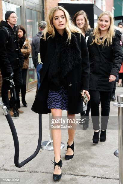 Chelsea Leyland is seen outside the Christian Siriano show on February 8 2014 in New York City
