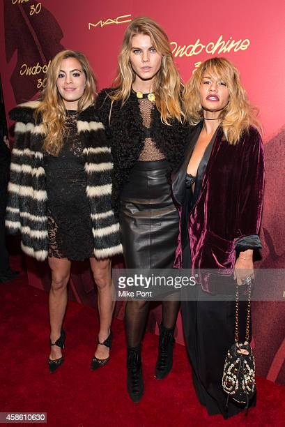 Chelsea Leyland, Marina Linchuk, and Jenna Lombardo attend Indochine's 30th Anniversary Party at Indochine on November 7, 2014 in New York City.