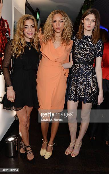 Chelsea Leyland Phoebe CollingsJames and Lara Mullen attend the InStyle and EE Rising Star Party in association with Lancome Karen Millen and Sky...