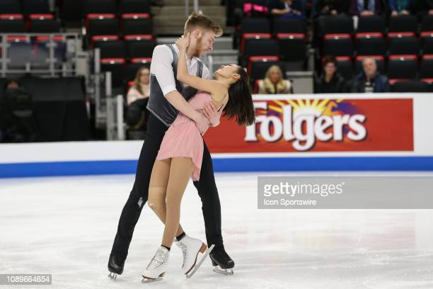 Chelsea Liu and Ian Meyh compete in the championship senior pairs short program during the 2019 Geico US Figure Skating Championships at Little...