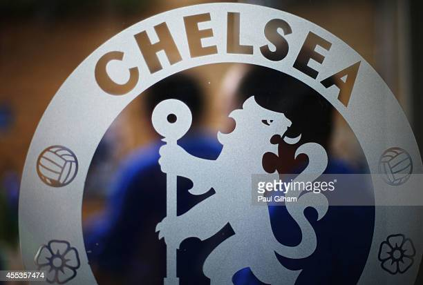 Chelsea logo prior to the Barclays Premier League match between Chelsea and Swansea City at Stamford Bridge on September 13 2014 in London England