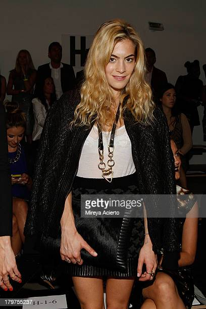 Chelsea Lyland attends the Cushnie Et Ochs fashion show during MADE Fashion Week Spring 2014 at Milk Studios on September 6 2013 in New York City