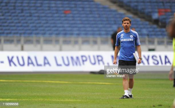 Chelsea manager Andre Villas-Boas during a training session at the Bukit Jalil National Stadium on July 20, 2011 in Kuala Lumpur, Malaysia