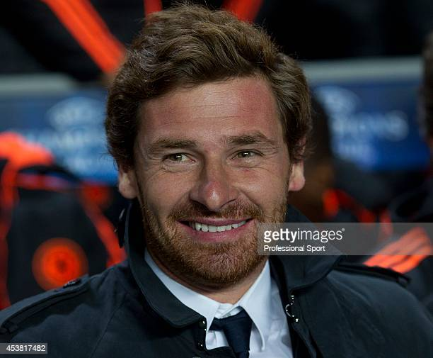Chelsea manager Andre VillasBoas smiling during the UEFA Champions League Group E match between Chelsea and KRC Genk at Stamford Bridge on October 19...