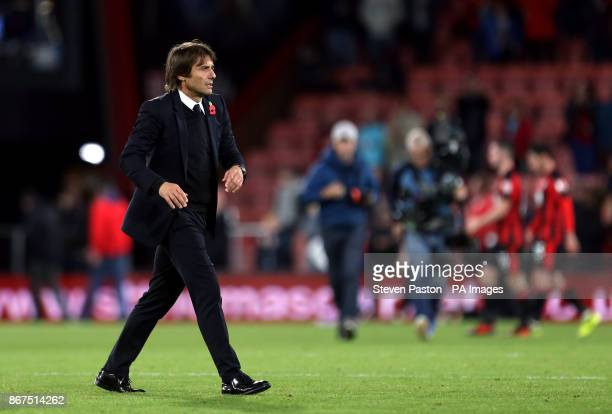Chelsea manager Antonio Conte after the Premier League match at the Vitality Stadium Bournemouth