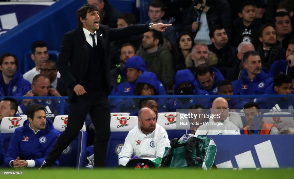 Chelsea manager Antonio Conte during the Emirates FA Cup, Quarter Final match at Stamford Bridge, London.