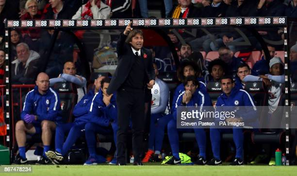 Chelsea manager Antonio Conte during the Premier League match at the Vitality Stadium Bournemouth