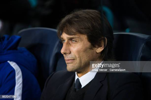 Chelsea manager Antonio Conte during the UEFA Champions League Round of 16 Second Leg match FC Barcelona and Chelsea FC at Camp Nou on March 14 2018...