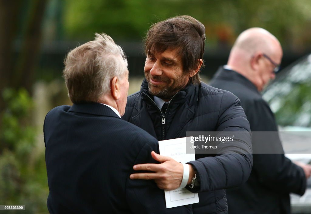 Chelsea Manager, Antonio Conte leaves St Luke's & Christ Church after the memorial held for Ray Wilkins on May 1, 2018 in London, England.