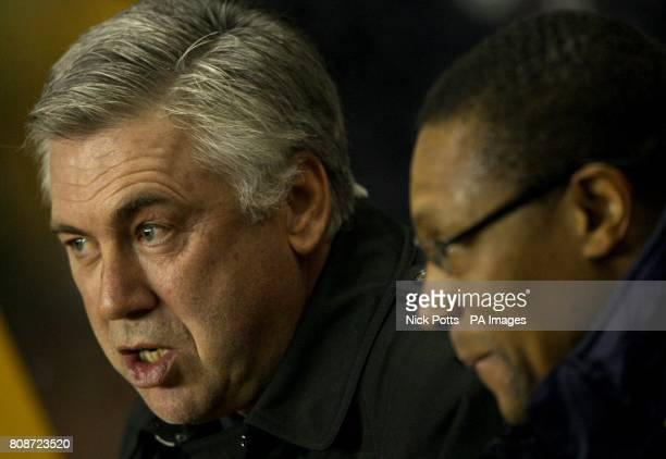 Chelsea manager Carlo Ancelotti and Assistant Manager Michael Emenalo