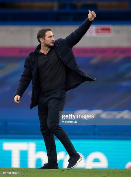 Chelsea Manager Frank Lampard after the Premier League match between Chelsea and Crystal Palace at Stamford Bridge on October 03 2020 in London...