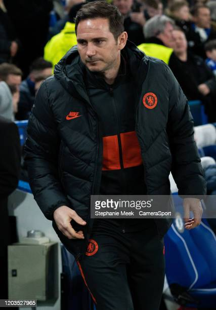 Chelsea manager Frank Lampard during the UEFA Champions League round of 16 first leg match between Chelsea FC and FC Bayern Muenchen at Stamford...