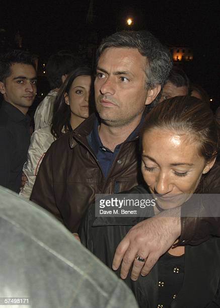 Chelsea manager Jose Mourinho and his wife Mathilde Mourinho attend the Gumball 3000 Rally PreParty after the premiere of last years movie Driving Me...