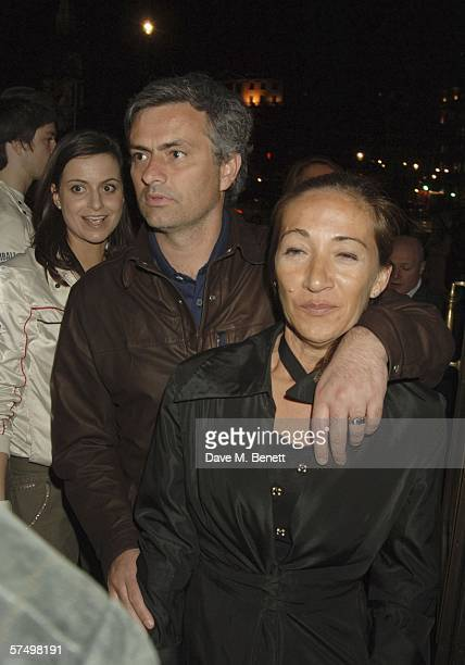 Chelsea manager Jose Mourinho and his wife Mathilde Mourinho attend the Gumball Rally PreParty after the premiere of last years movie 'Driving Me...